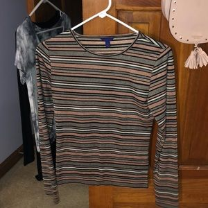 Sparkly striped long sleeve